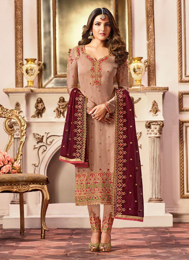 Designer Straight Suit For Sangeet