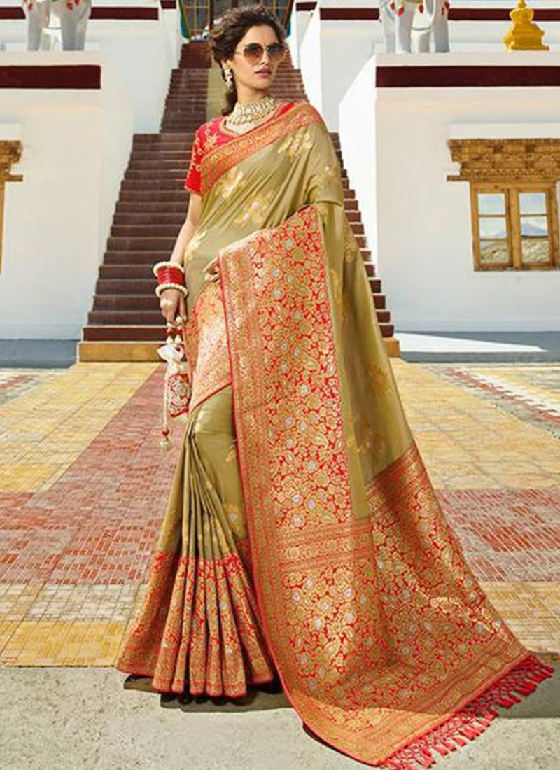 Designer Traditional Saree For Reception
