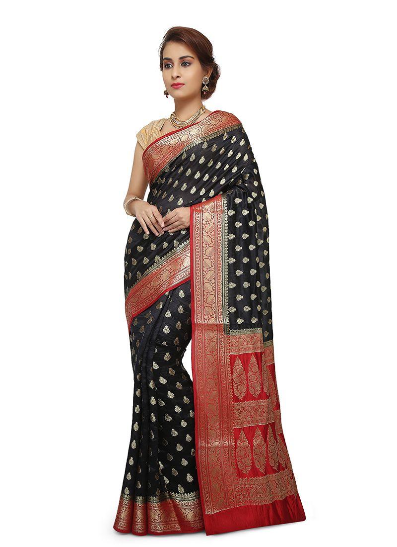 Designer Traditional Saree Thread Work Art Banarasi Silk in Maroon