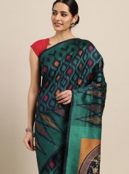 Designer Traditional Saree Woven Art Silk in Teal