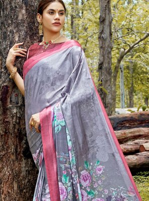 Digital Print Casual Saree