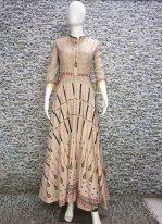Digital Print Cotton   Designer Gown