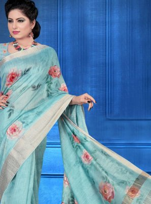 Digital Print Festival Printed Saree