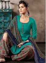 Digital Print Green Patiala Salwar Kameez
