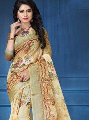Digital Print Linen Printed Saree