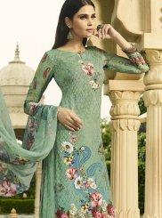 Digital Print Mehndi Palazzo Salwar Suit