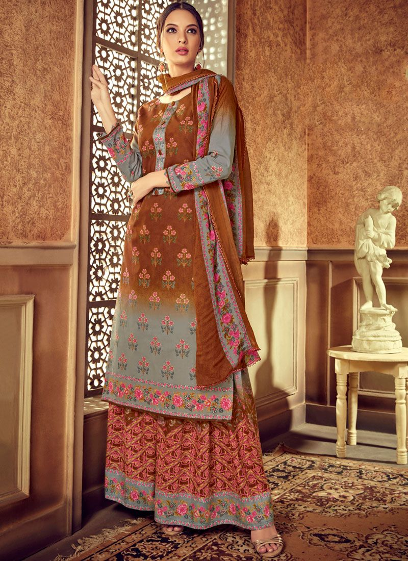 Digital Print Multi Colour Designer Pakistani Suit