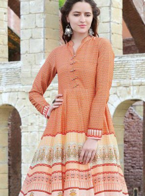 Digital Print Multi Colour Party Wear Kurti