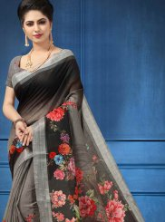 Digital Print Multi Colour Printed Saree