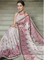 Digital Print Multi Colour Traditional Designer Saree