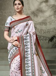 Digital Print Multi Colour Traditional Saree
