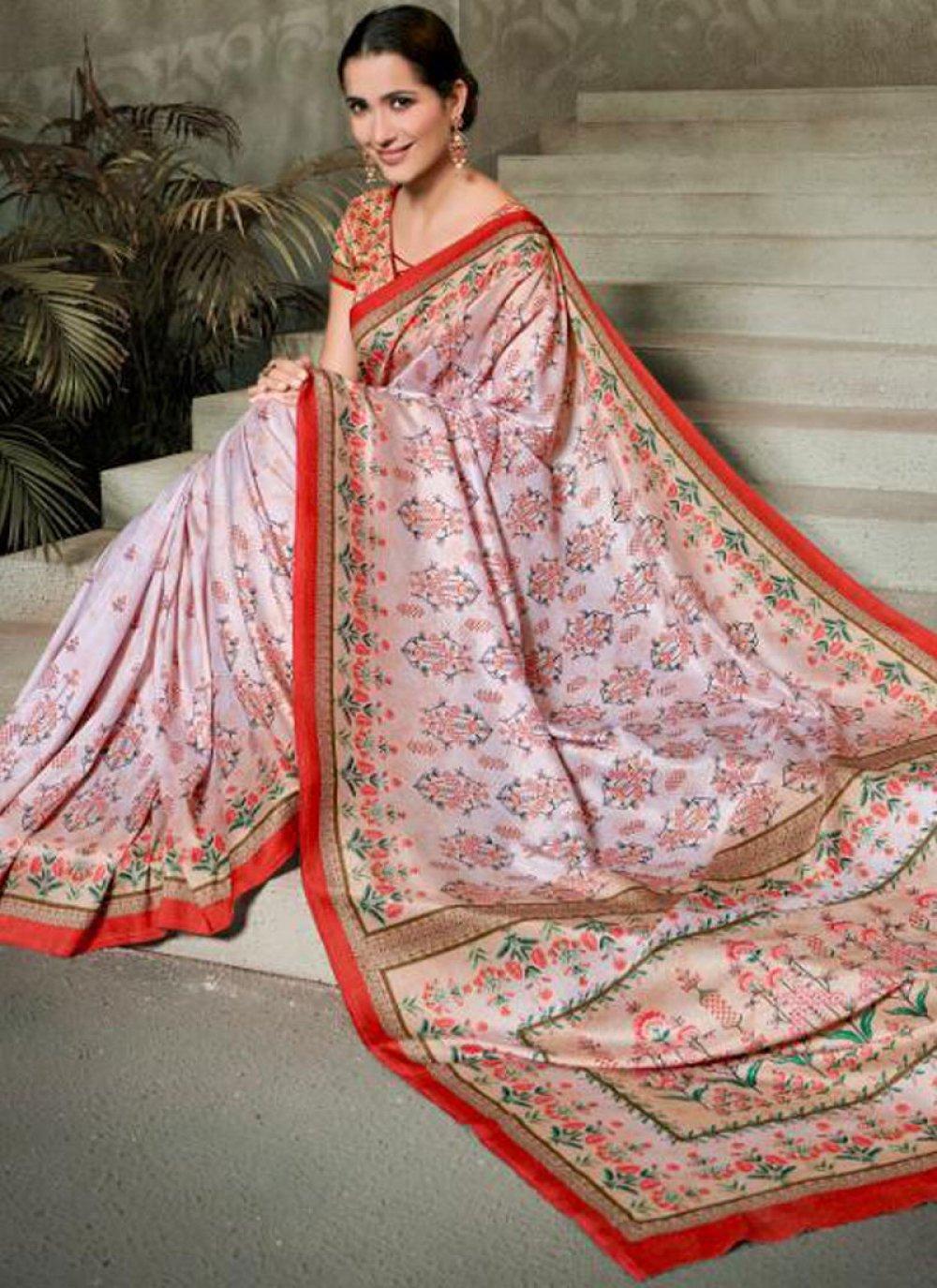 Digital Print Multi Colour Trendy Saree