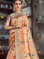 Digital Print Party Silk Saree
