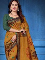 Digital Print Tussar Silk Classic Designer Saree