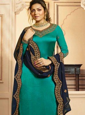 Drashti Dhami Blue Designer Palazzo Suit