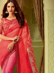 Embroidered Art Silk Designer Saree