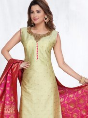 Embroidered Art Silk Designer Suit
