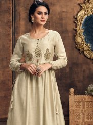 Embroidered Art Silk Party Wear Kurti