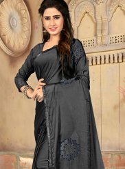 Embroidered Art Silk Traditional Saree