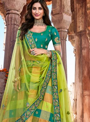 Embroidered Banarasi Silk Designer Lehenga Choli