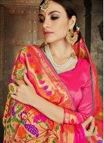 Embroidered Banarasi Silk Traditional Saree