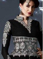Embroidered Black Floor Length Anarkali Suit