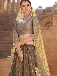 Embroidered Brown Trendy Designer Lehenga Choli