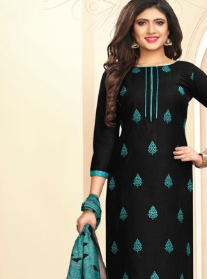 Embroidered Casual Churidar Salwar Kameez
