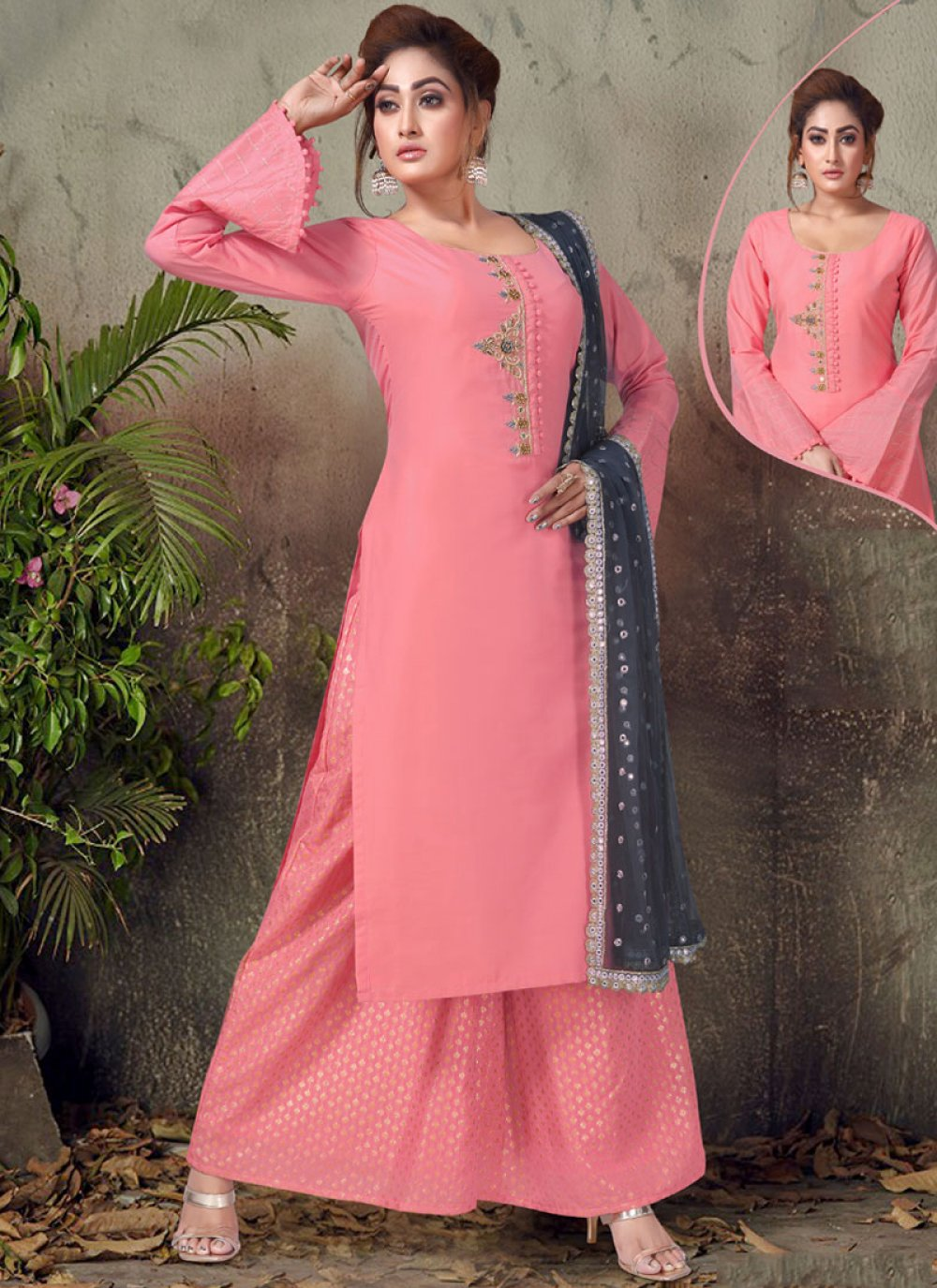 Embroidered Ceremonial Readymade Suit