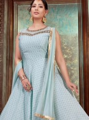 Embroidered Chanderi Designer Gown