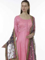 Embroidered Chanderi Designer Salwar Kameez