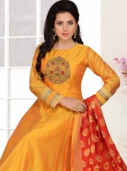 Embroidered Chanderi Designer Suit