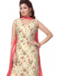 Embroidered Chanderi Multi Colour Readymade Suit