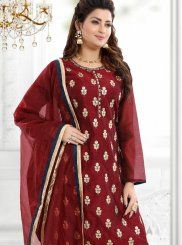 Embroidered Chanderi Readymade Suit