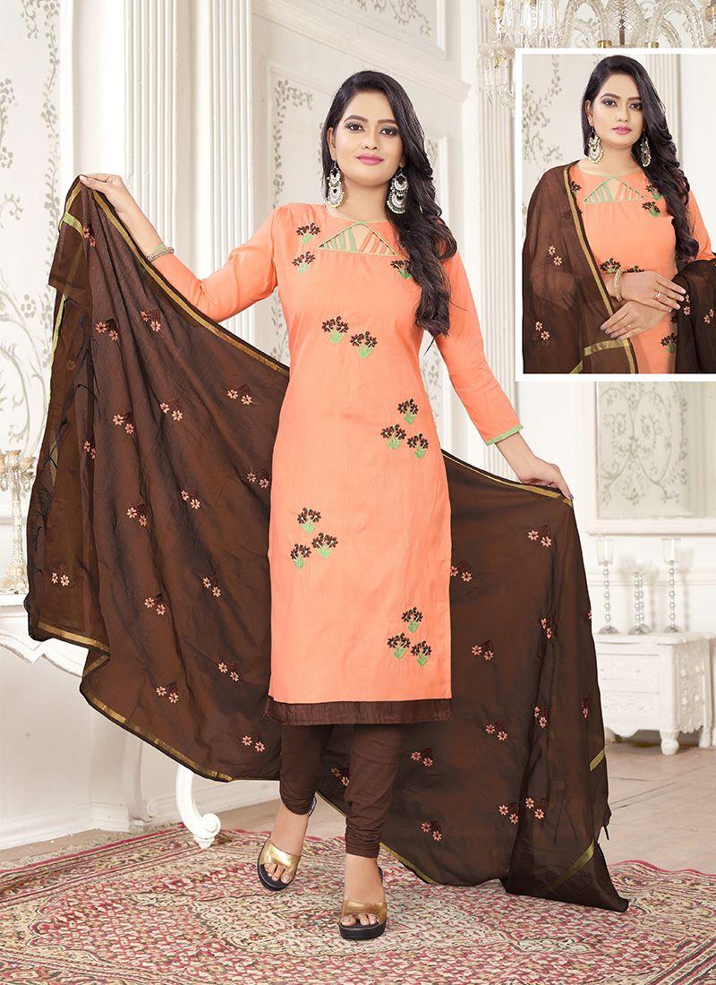 Embroidered Churidar Salwar Suit
