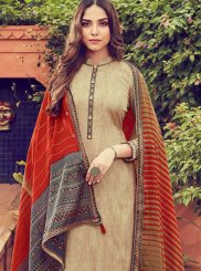 Embroidered Cotton Designer Palazzo Suit