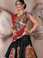 Embroidered Cotton Multi Colour Lehenga Choli