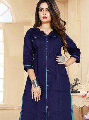 Embroidered Cotton Party Wear Kurti