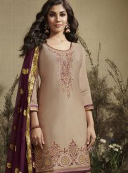 Embroidered Cotton Silk Designer Patiala Salwar Kameez