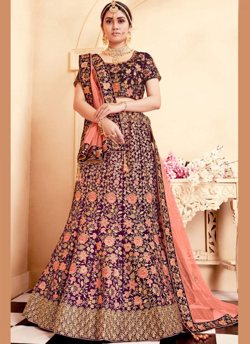 Embroidered Designer A Line Lehenga Choli