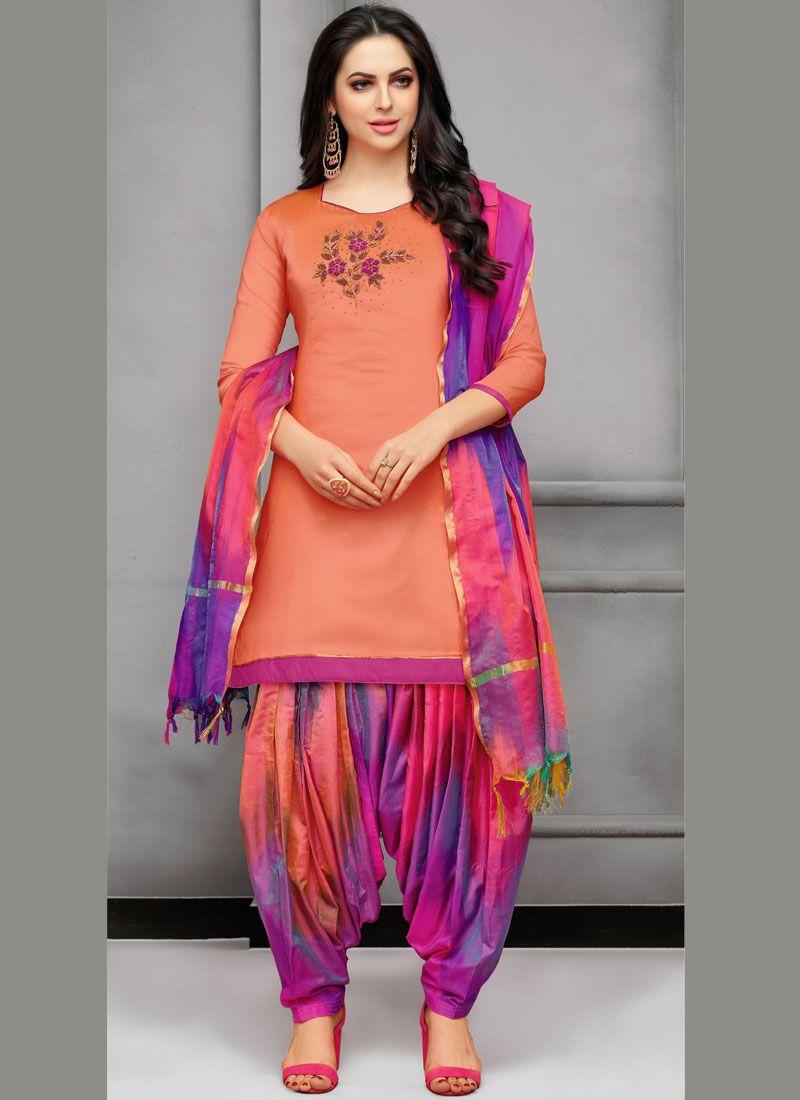 Embroidered Designer Patiala Suit
