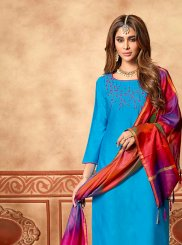 Embroidered Designer Straight Suit