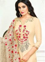 Embroidered Fancy Fabric Designer Straight Suit