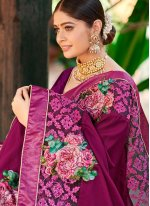 Embroidered Fancy Fabric Designer Traditional Saree