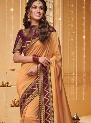 Embroidered Fancy Fabric Traditional Saree