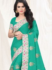 Embroidered Faux Chiffon Classic Saree