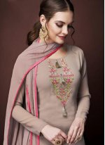 Embroidered Faux Georgette Designer Pakistani Suit