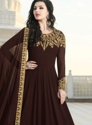 Embroidered Faux Georgette Floor Length Anarkali Suit