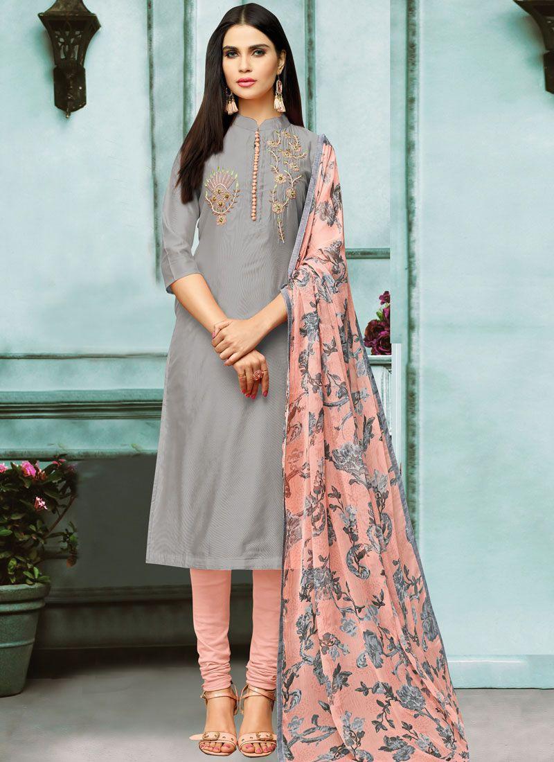 Embroidered Festival Churidar Salwar Kameez