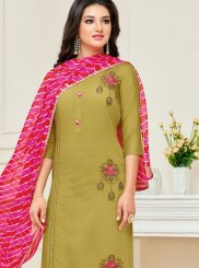 Embroidered Festival Churidar Suit